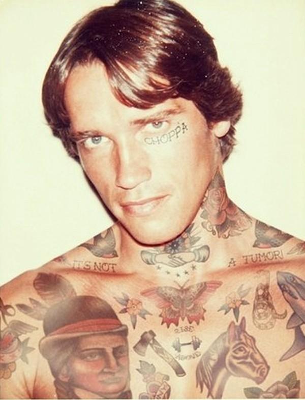 Arnold Schwarzenegger, Shopped Tattoos, Cheyenne Randall