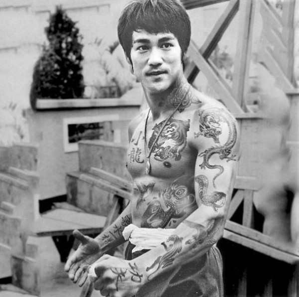 Bruce Lee, Shopped Tattoos, Cheyenne Randall