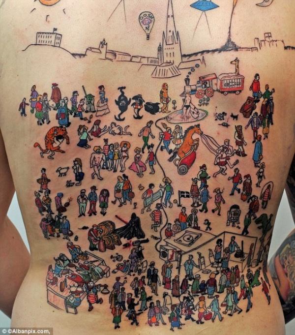 Tatuaż: Gdzie jest Wally?