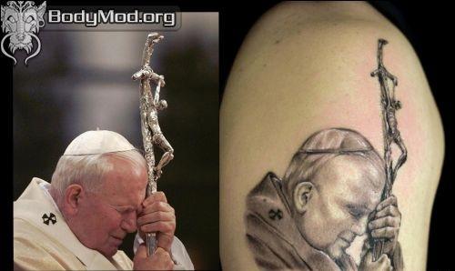 07 - Jan Paweł II tatuaż / John Paul 2 tattoo