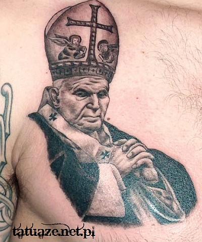 08 - Jan Paweł II tatuaż / John Paul 2 tattoo