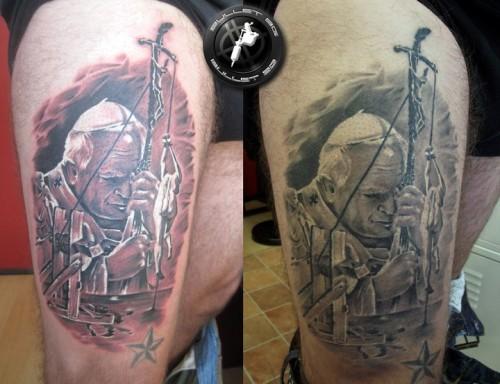 15 - Jan Paweł II tatuaż / John Paul 2 tattoo