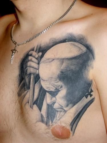06 - Jan Paweł II tatuaż / John Paul 2 tattoo