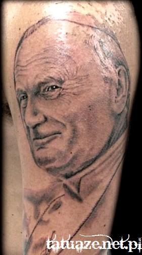 05 - Jan Paweł II tatuaż / John Paul 2 tattoo