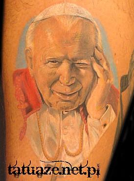 12 - Jan Paweł II tatuaż / John Paul 2 tattoo