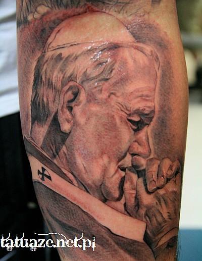01 - Jan Paweł II tatuaż / John Paul 2 tattoo