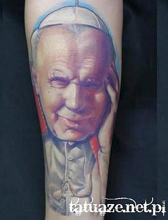 13 - Jan Paweł II tatuaż / John Paul 2 tattoo