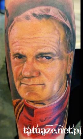 11 - Jan Paweł II tatuaż / John Paul 2 tattoo