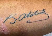 Podpis Mustafy Kemala Ataturka
