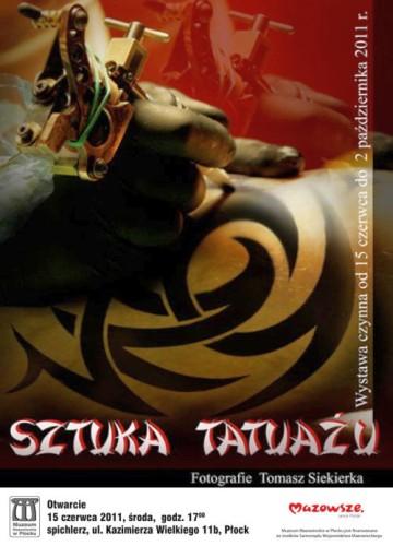 plakat - Sztuka tatuażu - Muzeum Mazowieckie, Płock