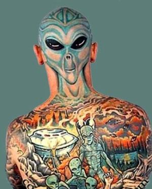 UFO tatuaż