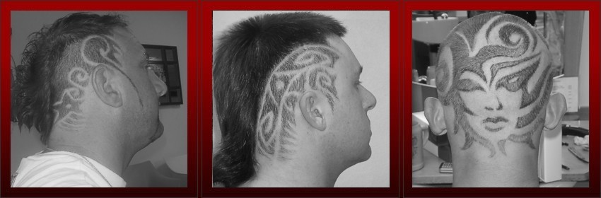 Tatuaże na włosach
