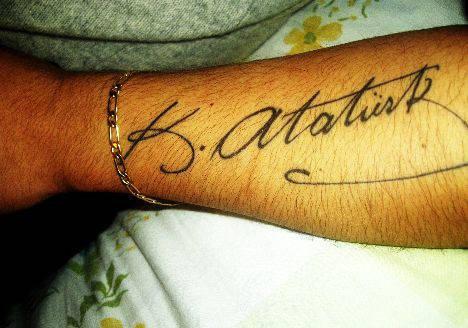 Podpis Mustafy Kemala Ataturka 2