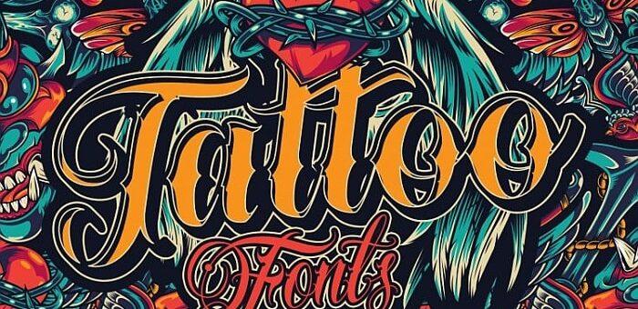 Tattoo fonts, czcionki na tatuaż
