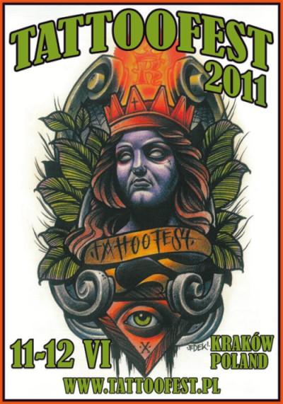 plakat Tattoofest 2011, Kraków
