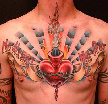 Tatuaż na klatce
